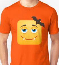 Dracula Vampire Bat Emoji Emoticon Smiley Face T-Shirt