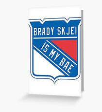 Brady Skjei - #76 New York Rangers Greeting Card