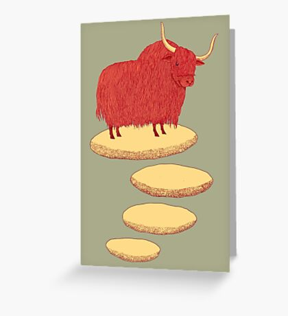 Yak and Stepping Stones Greeting Card