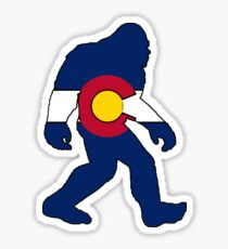 Colorado flag big foot yeti Sticker
