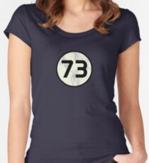 73 Sheldon Distressed Women's Fitted Scoop T-Shirt
