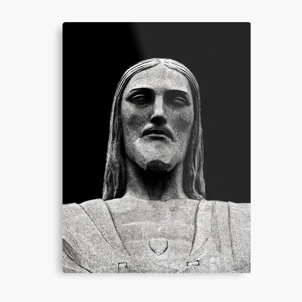 Christ Looking to You Metal Print