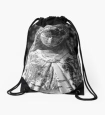 Saint Mary 1 BW Drawstring Bag