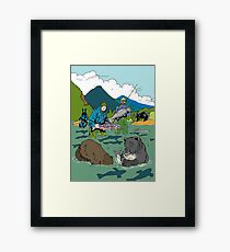 Fishing with the bear Framed Print
