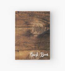 Faux Brown Barn Holz Hochzeit Gästebuch Notizbuch