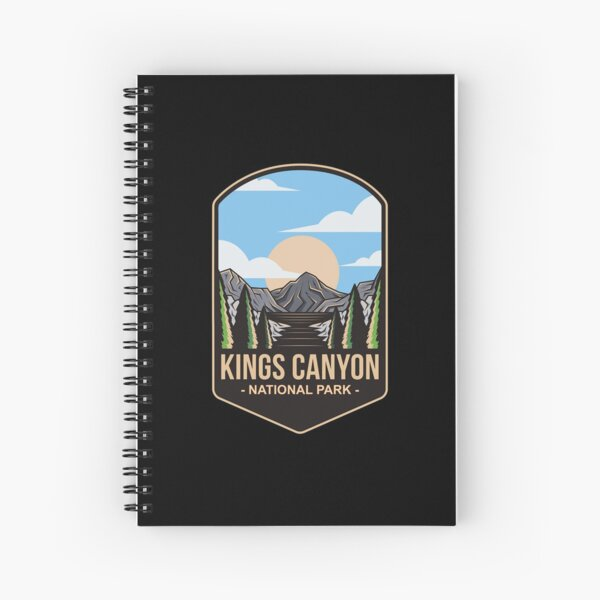 Kings Canyon National Park, For Mountain Lovers, Camping Lovers Spiral Notebook