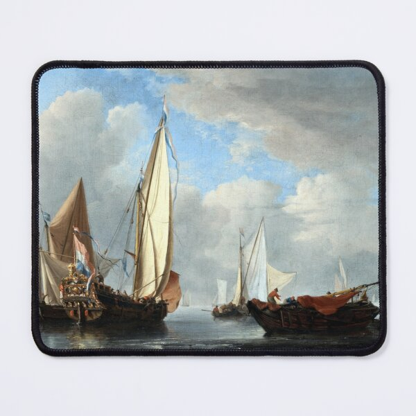 Willem van de Velde the Younger A Yacht and Other Vessels in a Calm Mouse Pad