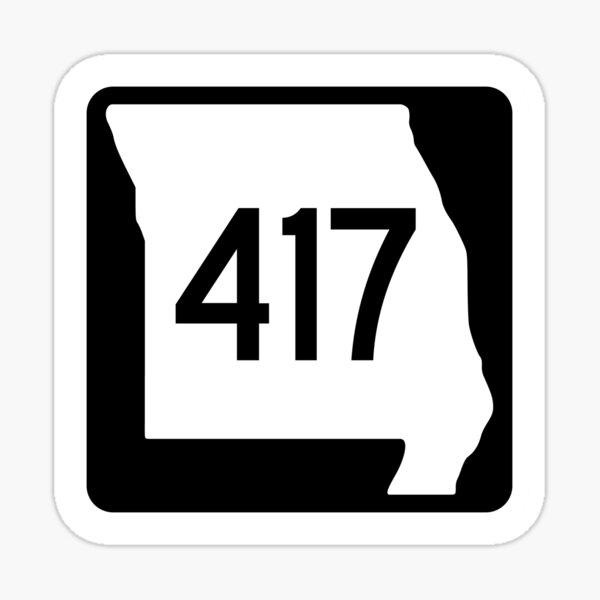 Missouri State Route 417 (Area Code 417) Sticker