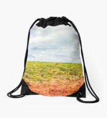 Nature always wears the colors of the spirit. Drawstring Bag