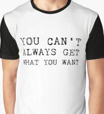 The Rolling Stones - Lyrics Graphic T-Shirt