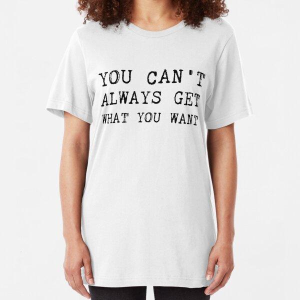 The Rolling Stones - Lyrics Slim Fit T-Shirt