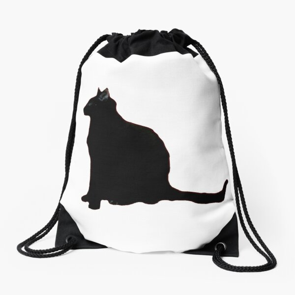 IF YOU LOVE A BLACK CAT Drawstring Bag
