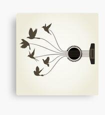Bird a guitar Canvas Print