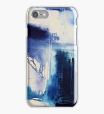 Abstract Blue Painting iPhone Case/Skin