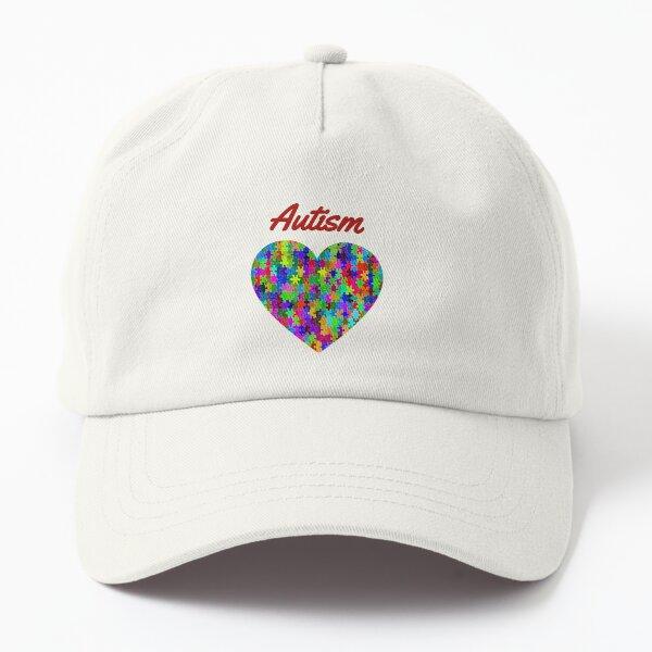 Autism Love Heart Dad Hat