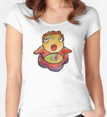 Cute Ponyo! Studio Ghibli Women's Fitted Scoop T-Shirt