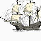 Vintage Sailing Ship by cartoon