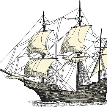 Vintage Sailing Ship by cartoon