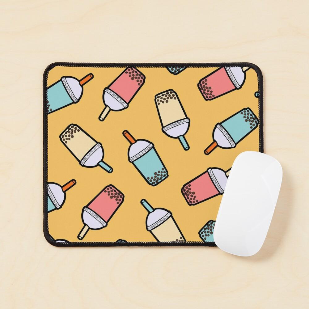 Bubble Tea Pattern Mouse Pad