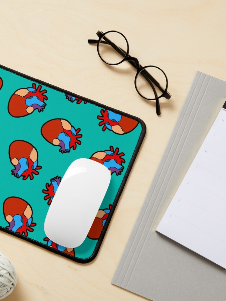 Alternate view of Anatomical Heart Pattern Mouse Pad