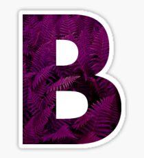 B purple fern Sticker
