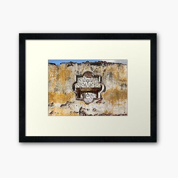Crumbling Walls of Antigua Framed Art Print