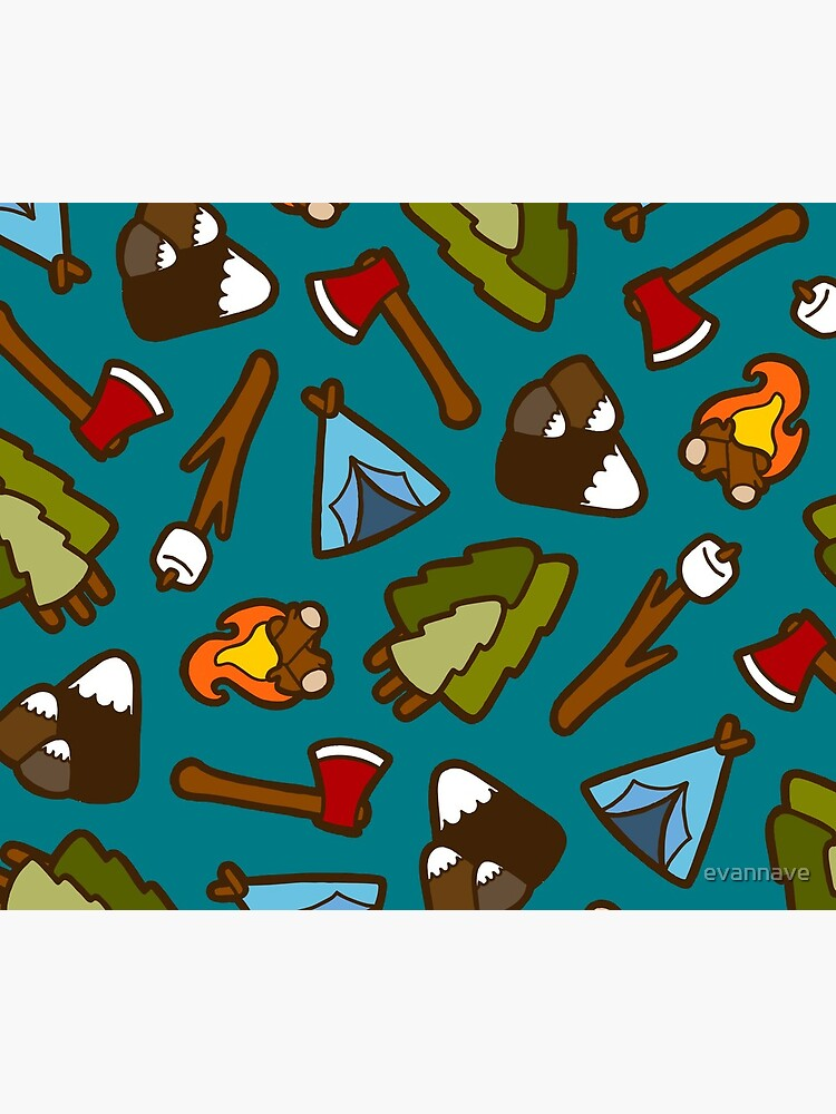 Camping is Cool Pattern by evannave