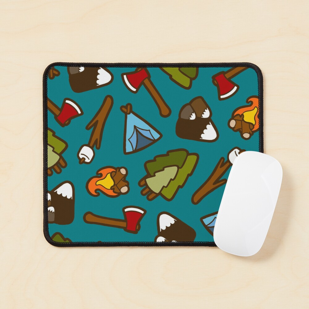 Camping is Cool Pattern Mouse Pad