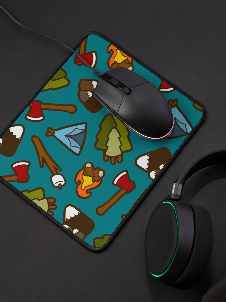 Alternate view of Camping is Cool Pattern Mouse Pad