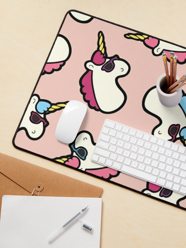 Alternate view of Unicorns Are Cool Pattern - Multi Mouse Pad