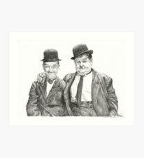 Mr Laurel & Mr Hardy Art Print