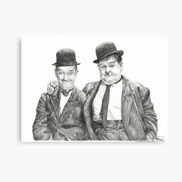 Mr Laurel & Mr Hardy Canvas Print