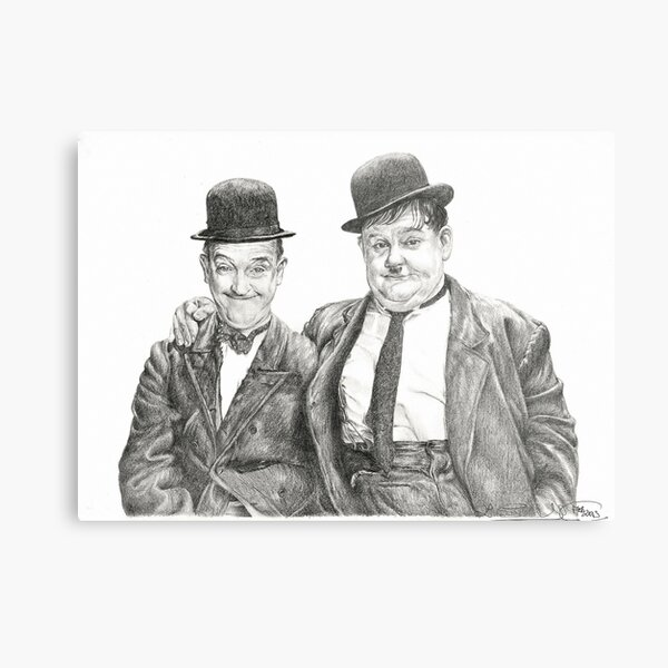 Mr Laurel & Mr Hardy Metal Print
