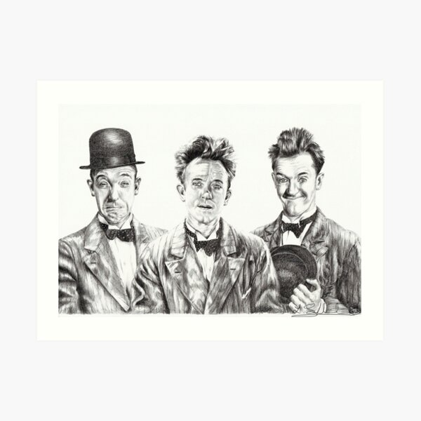 The Funny Faces of Stan Laurel Art Print