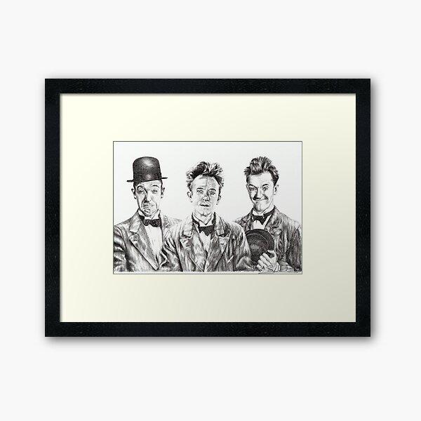 The Funny Faces of Stan Laurel Framed Art Print