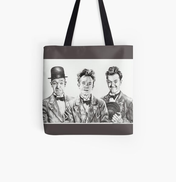 The Funny Faces of Stan Laurel All Over Print Tote Bag
