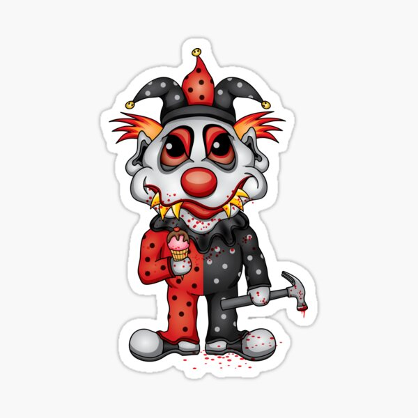 Jester Clown Sticker