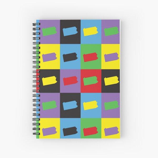 Pennsylvania Pop Art State Pattern Spiral Notebook