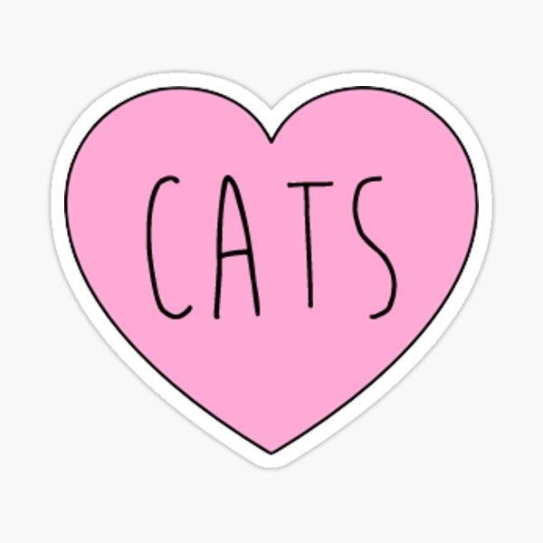 cats heart Sticker
