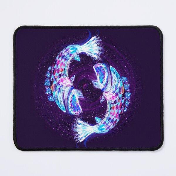 Pisces Zodiac Lightburst Mouse Pad