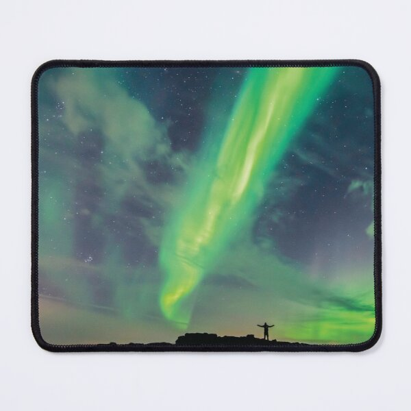 Celebrating The Northern Lights in Iceland Mouse Pad