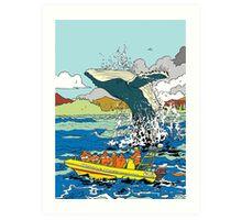 Jumping Whale Art Print