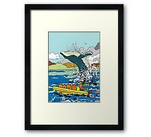 Jumping Whale Framed Print