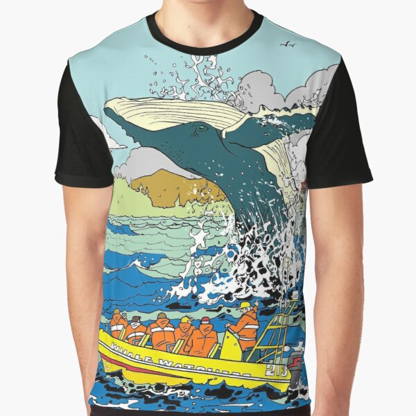 Jumping Whale Graphic T-Shirt
