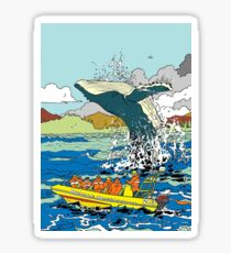 Jumping Whale Sticker