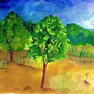 Green trees by Elizabeth Kendall