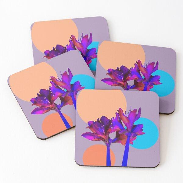 amaryllis Coasters (Set of 4)