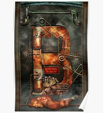 Steampunk - Alphabet - B is for Belts Poster