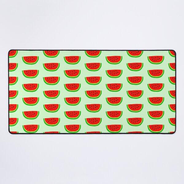 Summer Fruit Watermelon Slice Cartoon Illustration Desk Mat