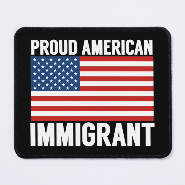 Proud American Citizen Immigrant New American USA Flag Mouse Pad